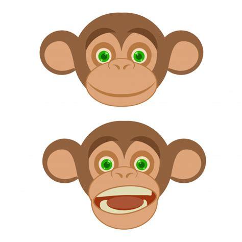 Logotipo de cara de sonrisa de mono de dibujos animados ...