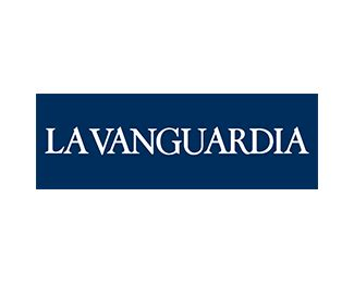 Logotipo La Vanguardia - 100x100madera