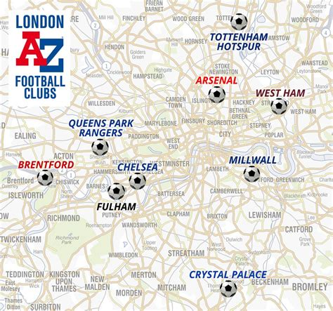 London Football Clubs - A-Z Maps