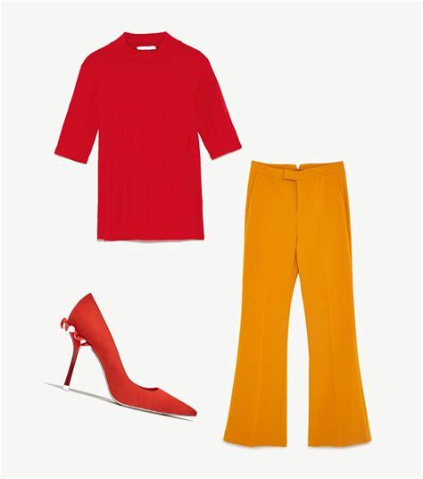 Looks amarillo y rojo para Marta Sanchez para cantar el ...