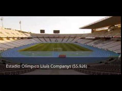 Los 10 estadios de Fútbol mas grandes de España - YouTube