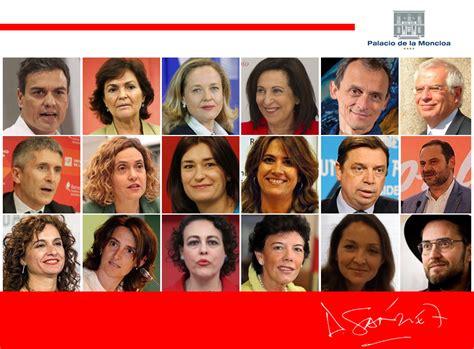 Los 17 ministros de Pedro Sánchez: así es el Gobierno con ...
