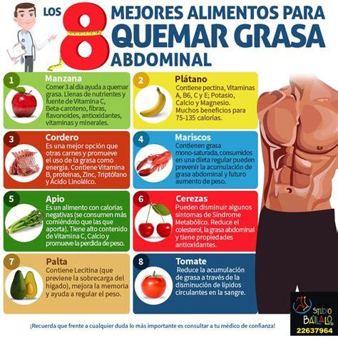 Los 8 mejores alimentos para quemar la grasa abdominal