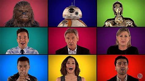 Los actores de 'Star Wars' cantan la banda sonora a capela