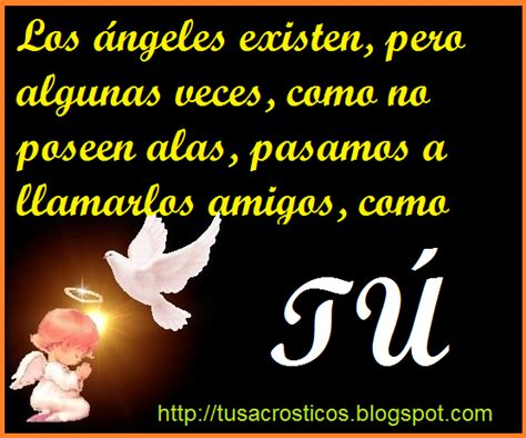 Los ángeles existen... : Acrosticos de amor,Frases cortas ...