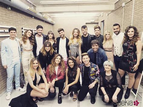 Los concursantes de 'OT 2017' en el backstage de su primer ...