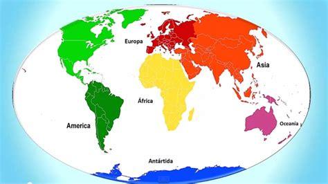 Los Continentes para Niños con Música ,Continents for ...