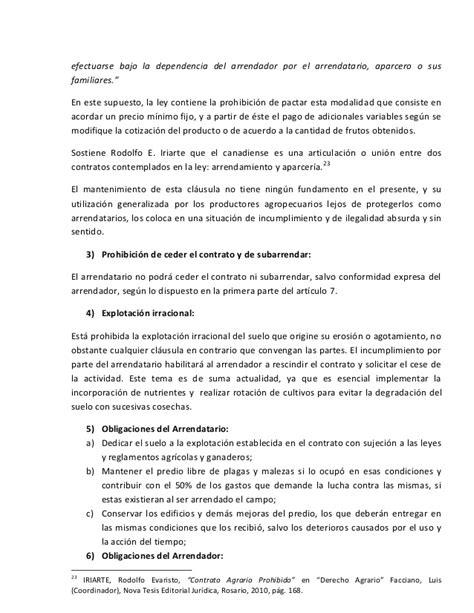 Los contratos en la Ley de Arrendamientos Rurales y Aparcerías