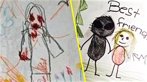 Los Dibujos Mas Escalofriantes Hechos Por Niños   YouTube