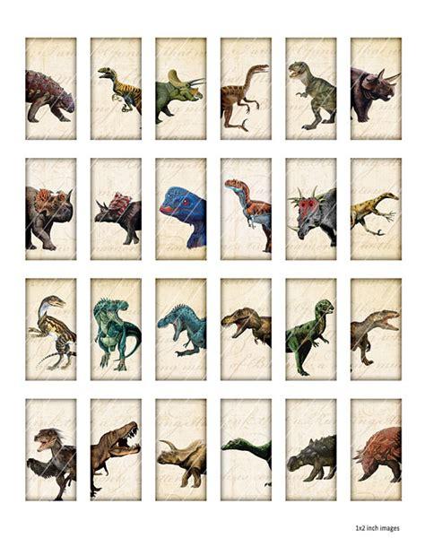 Los dinosaurios fichas de dominó 1 x 2 pulgadas para ...