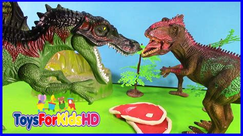 Los dinosaurios Spinosaurus v/s Gigantosaurus - Juguetes ...
