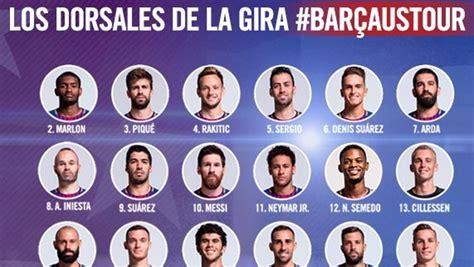 Los dorsales del Barça 2017 2018 | la cronica.com.mx