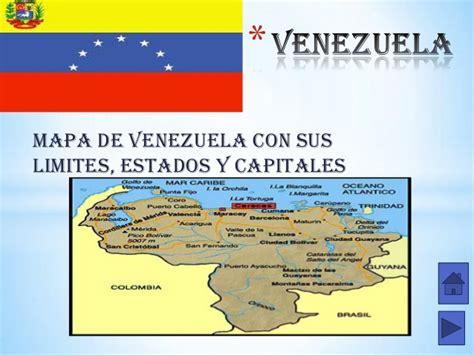 Los Estados Y Sus Capitales | mapa de venezuela con todos ...