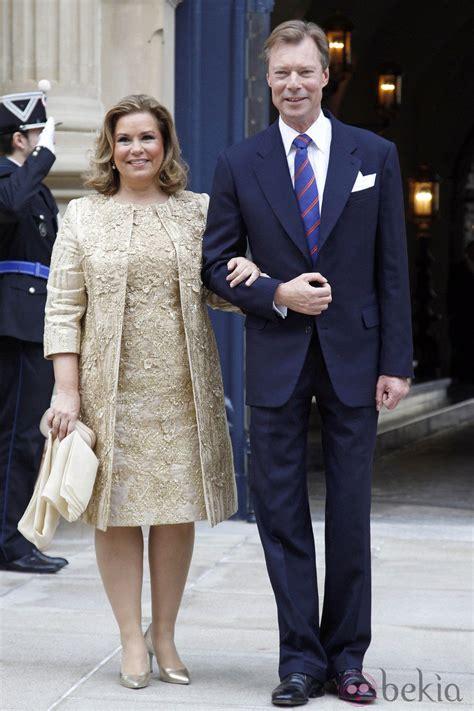Los Grandes Duques de Luxemburgo tras la boda civil de ...