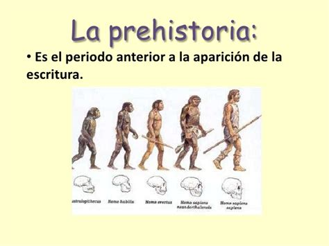 Los hombres de la prehistoria