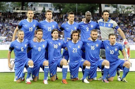 Los jugadores de la selección de Italia