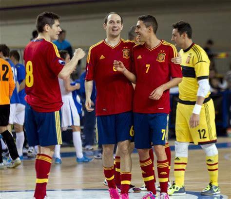 Los jugadores de la selección española de fútbol sala ...