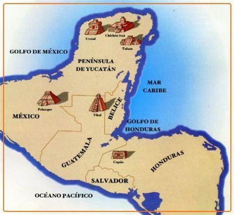 Los mayas: LUGARES HASTA DONDE SE EXPANDIERON LOS MAYAS