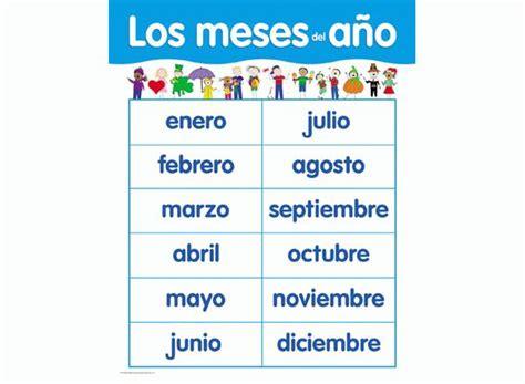 Los Meses Del Ano Spanish Basic Skills Learning Chart