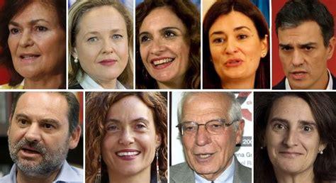 Los nombres del nuevo Gobierno de Pedro Sánchez, ministro ...
