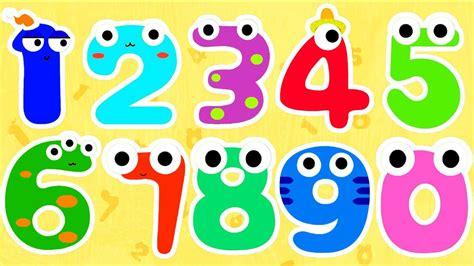 Los Números en Ingles del 1 al 10 para niños Pequeños ...