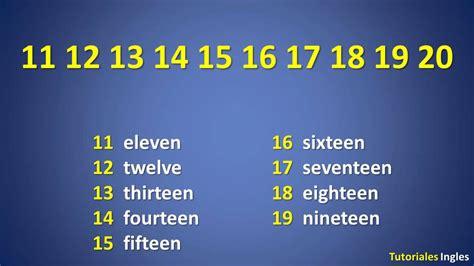 Los números en ingles del 1 al 20   YouTube