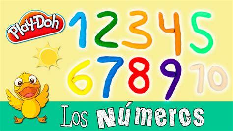Los NÚMEROS en inglés y español * Aprender con PLAYDOH ...