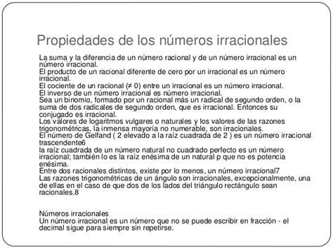 Los números irracionales