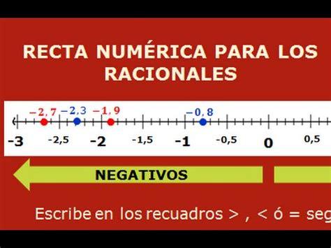 LOS NÚMEROS RACIONALES EN LA RECTA NUMÉRICA, COMPARACION Y ...