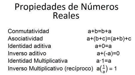 Los números reales: propiedades y operaciones - YouTube