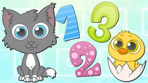 LOS NÚMEROS Y ANIMALES ???? Canciones Infantiles | Dibujos ...