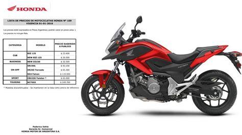 Los precios ridiculamente caro de honda en motos   Autos y ...