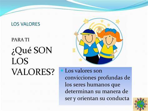 LOS VALORES ELABORADO POR: PROFRA. ERIKA PAULIN..   ppt ...