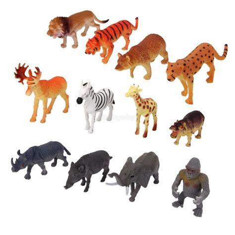 Lot 12pcs Plastic Animals Zoo Wild Elephant Tiger Zebra ...