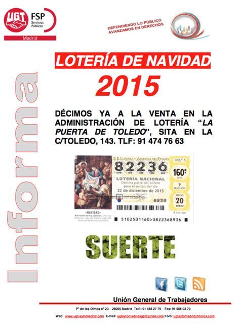 Lotería de Navidad | UGT-AYTOMADRID