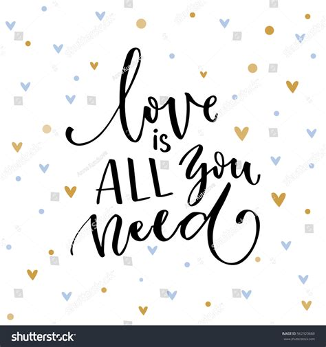 Love All You Need Inspirational Quote Stock Vector ...