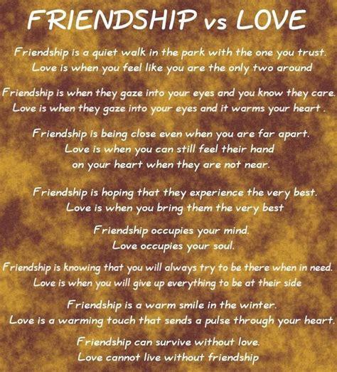 Love and Friendship: Friendship vs Love