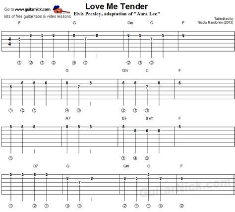 Love Me Tender - easy guitar tab | Music | Pinterest ...