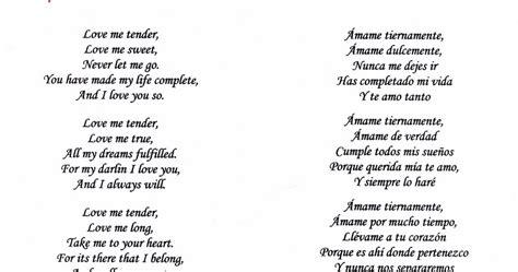 Love me tender - Letra de la canción ~ Blog del Coro Mejora