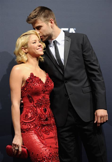 Loved-up Shakira and Gerard make red carpet debut in style ...