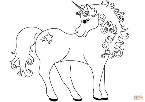 Lovely Unicorn coloring page | Free Printable Coloring Pages
