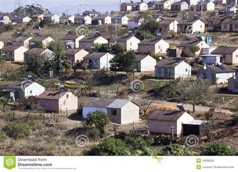 Low Cost Township Houses In Durban South Africa Editorial ...