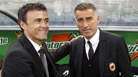 Luis Enrique y Tassotti hacen las paces   ABC.es