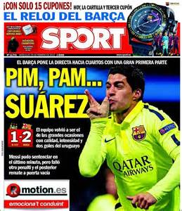 Luis Suarez steals Spanish headlines after firing double ...