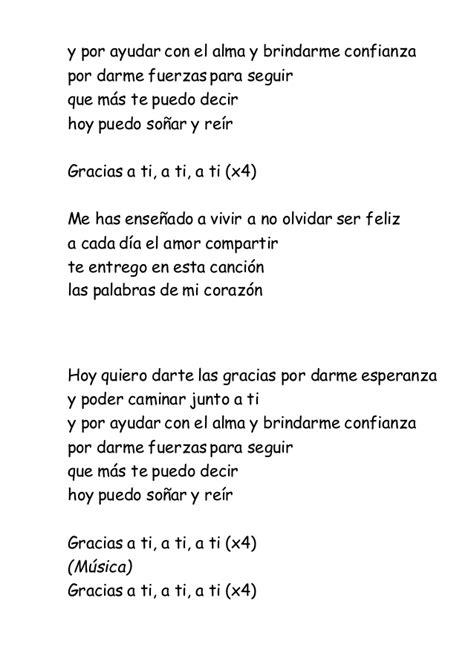 Lyric : gracias a la vida lyrics Gracias A La or Gracias A ...