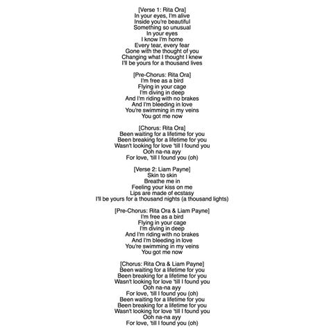 LYRICS FOR RITA ORA AND LIAM PAYNE FOR YOU IT IS NOT TO ...