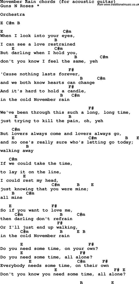 Lyrics November Rain | myideasbedroom.com