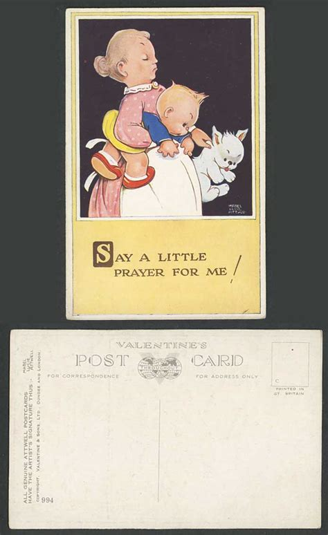 MABEL LUCIE ATTWELL Old Postcard Say Little Prayer for Me ...