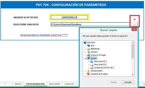 Macro Excel para el PDT 0706 Balance de Comprobación y ...