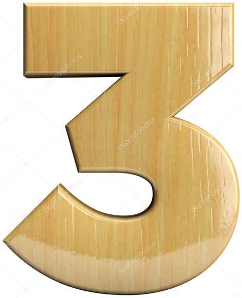 Madera número tres 3 — Fotos de Stock © somartin #79993452